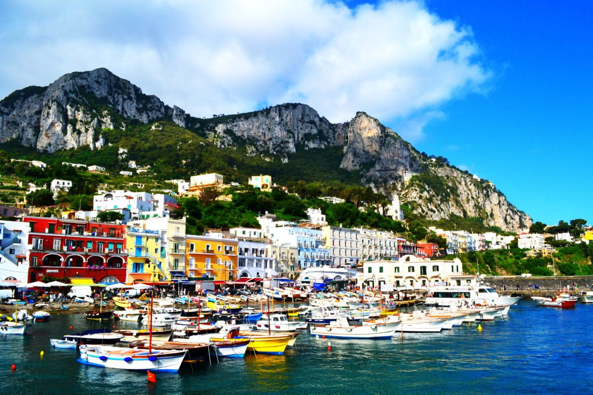 Capri and harbour