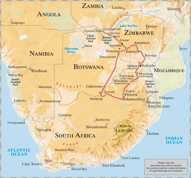 Pride of Africa Route victoria falls